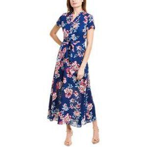 Nanette Lepore Floral Tie-Waist Maxi Dress Sz 14